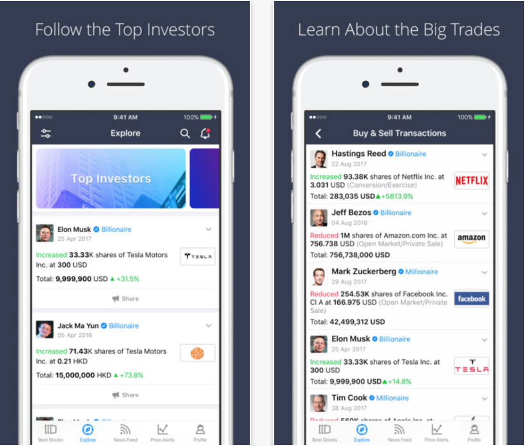 spiking investment tracker mobile apps